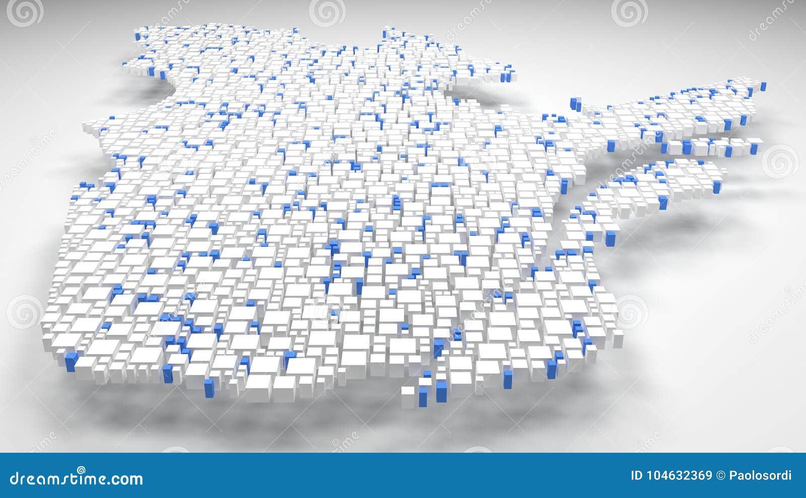 Download Kaart Van Quebec - Canada - Stock Illustratie - Illustratie bestaande uit quebec, bakstenen: 104632369