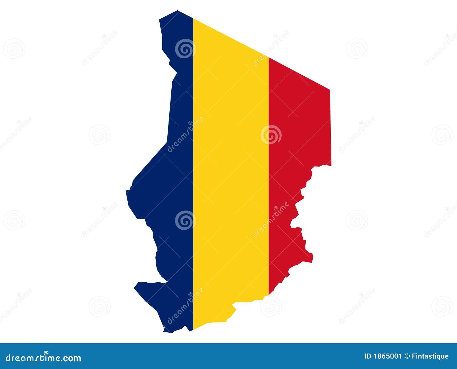 Kaart van Tsjaad