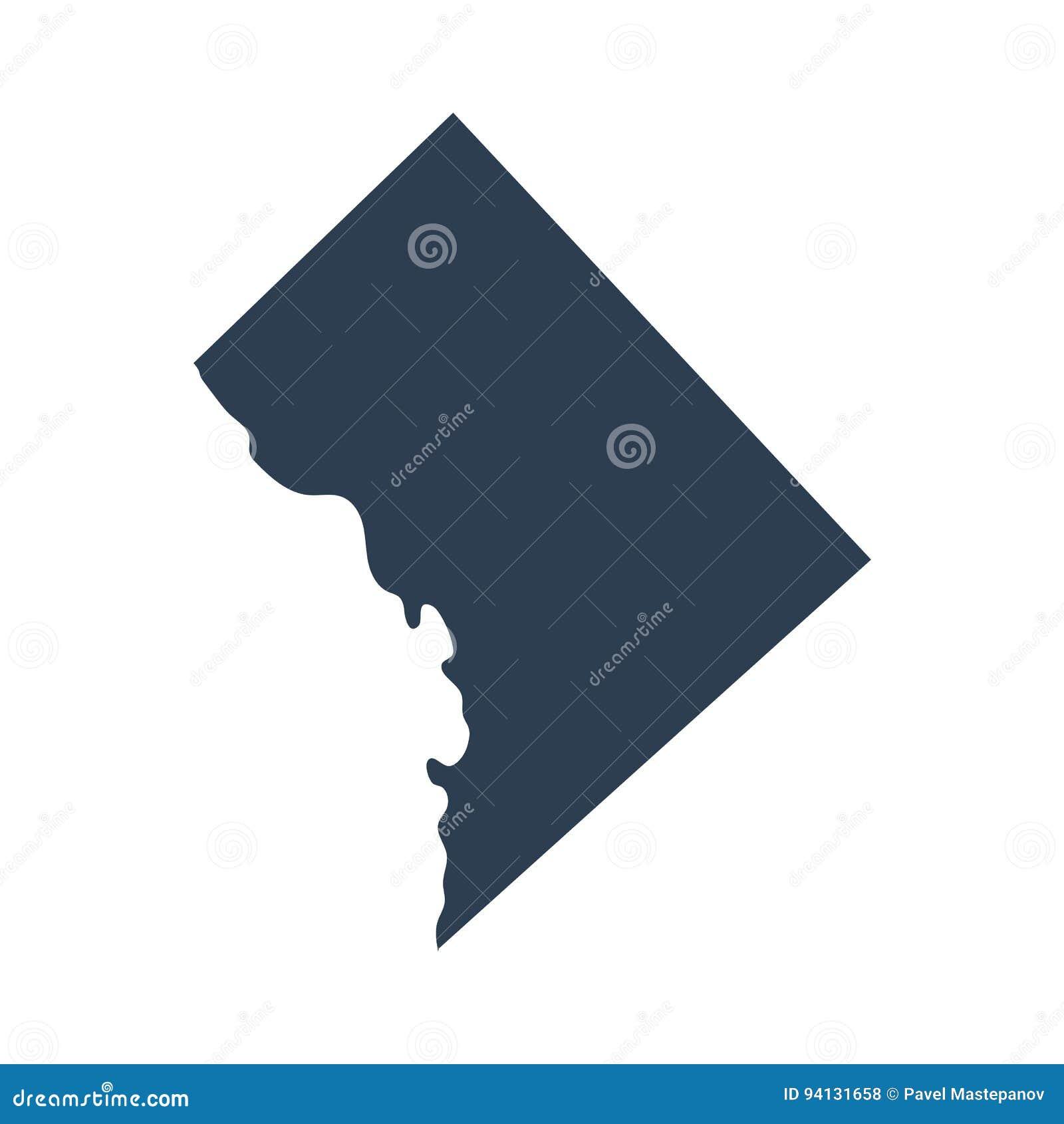 Kaart van U S District van de vector van Colombia