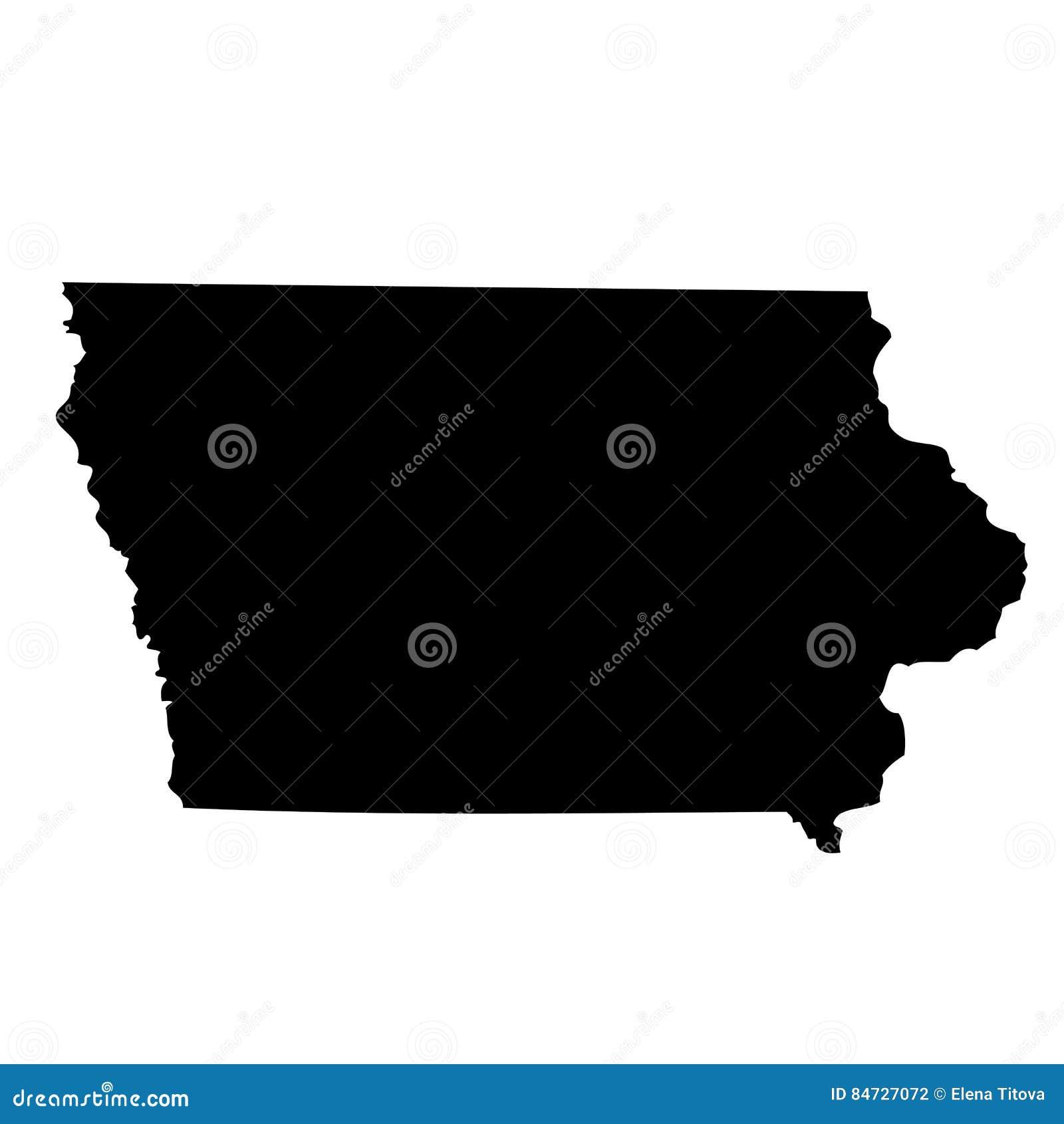 Kaart van U S staat Iowa