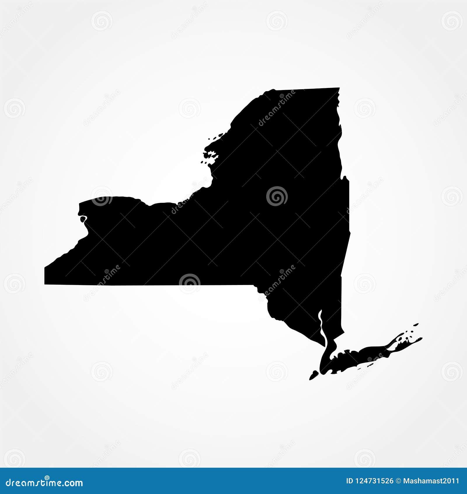 Kaart van U S Staat van New York