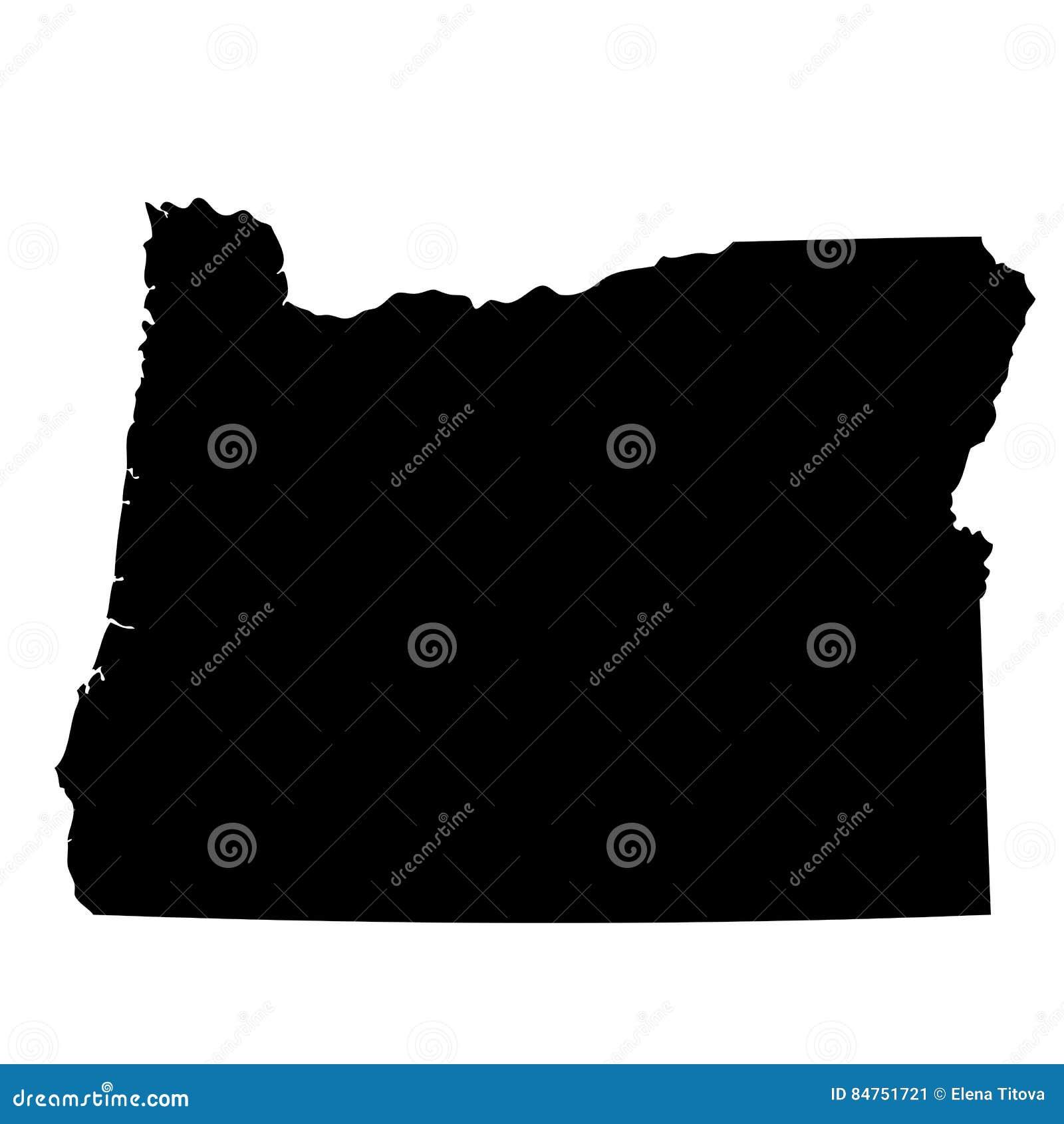 Kaart van U S staat Oregon