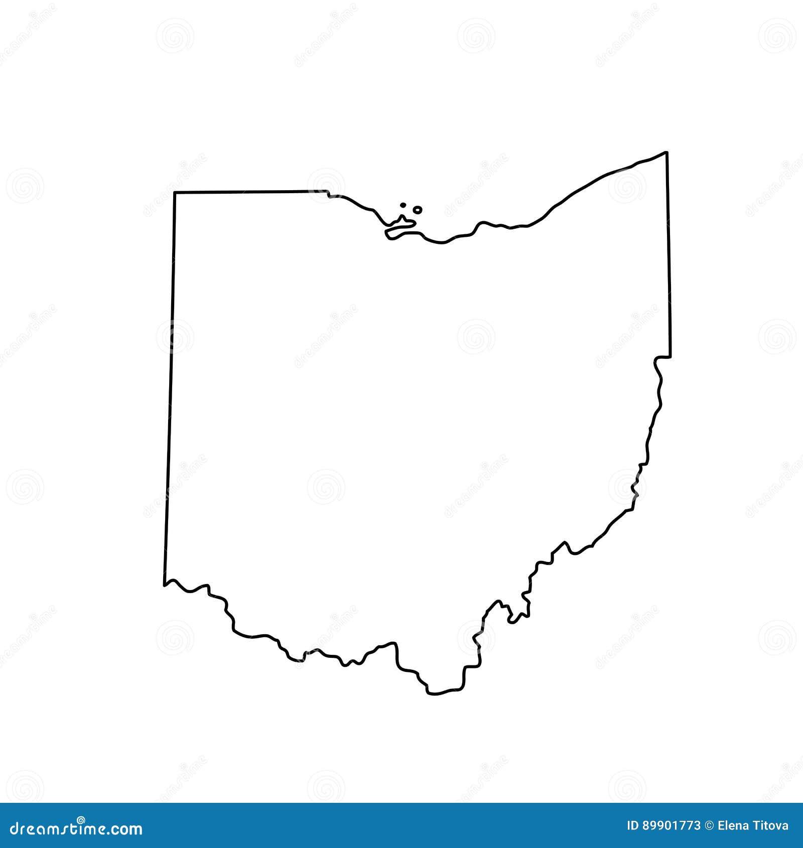 Kaart van U S Staat van Ohio