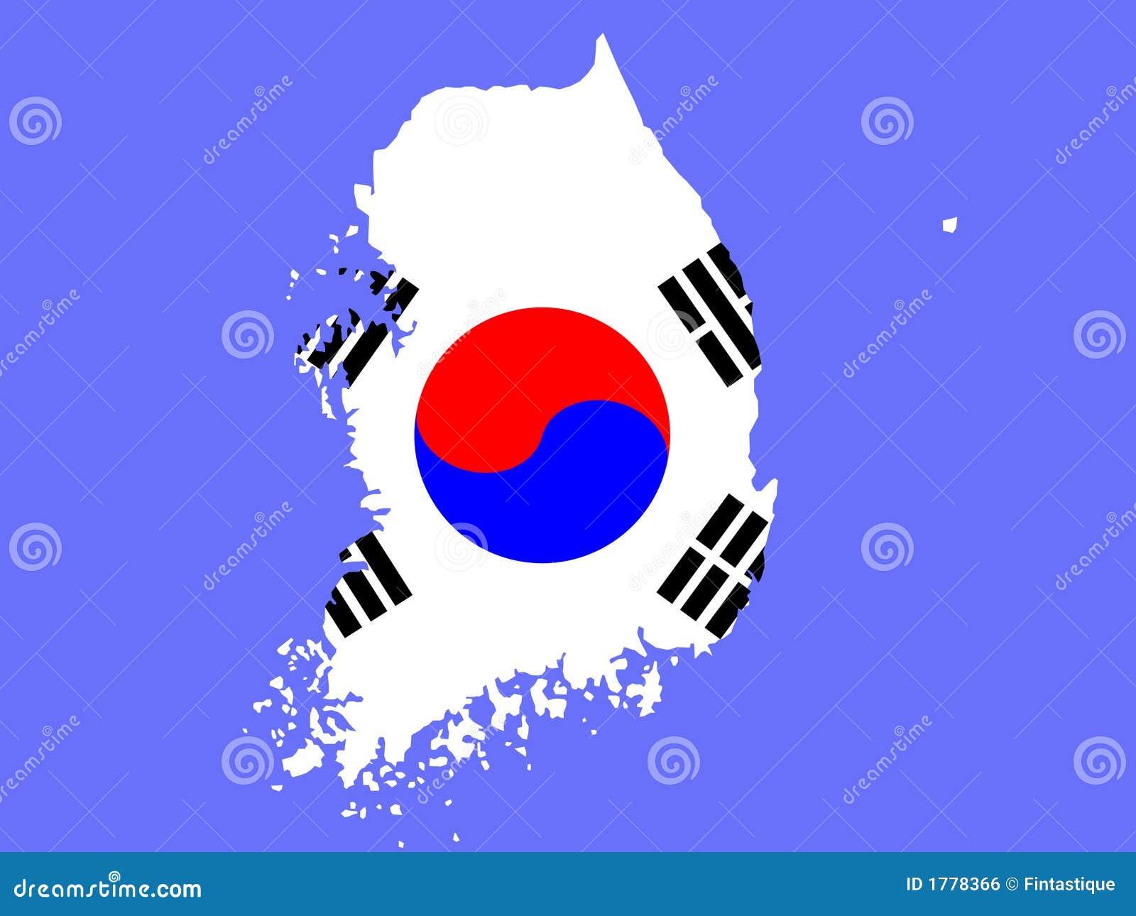 Kaart van Zuid-Korea