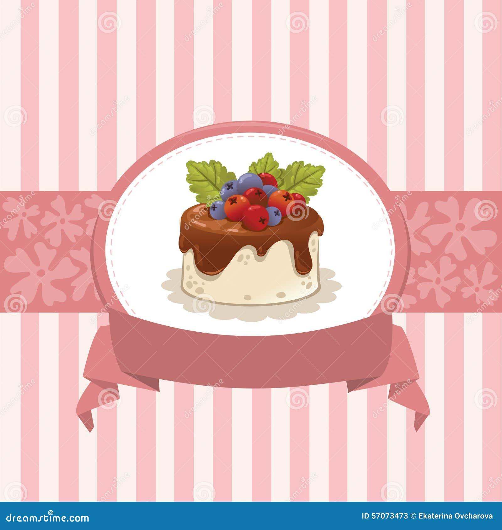 Kaartontwerp met cupcake