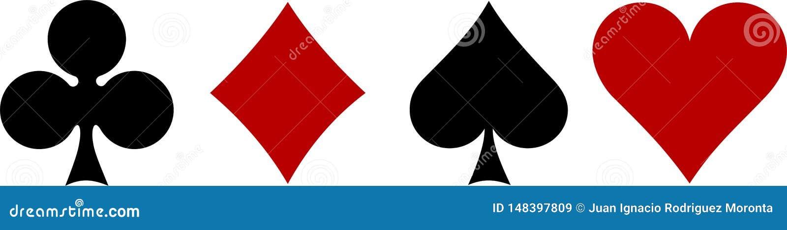 Kaartstokken, hart, spades, diamanten, klaver