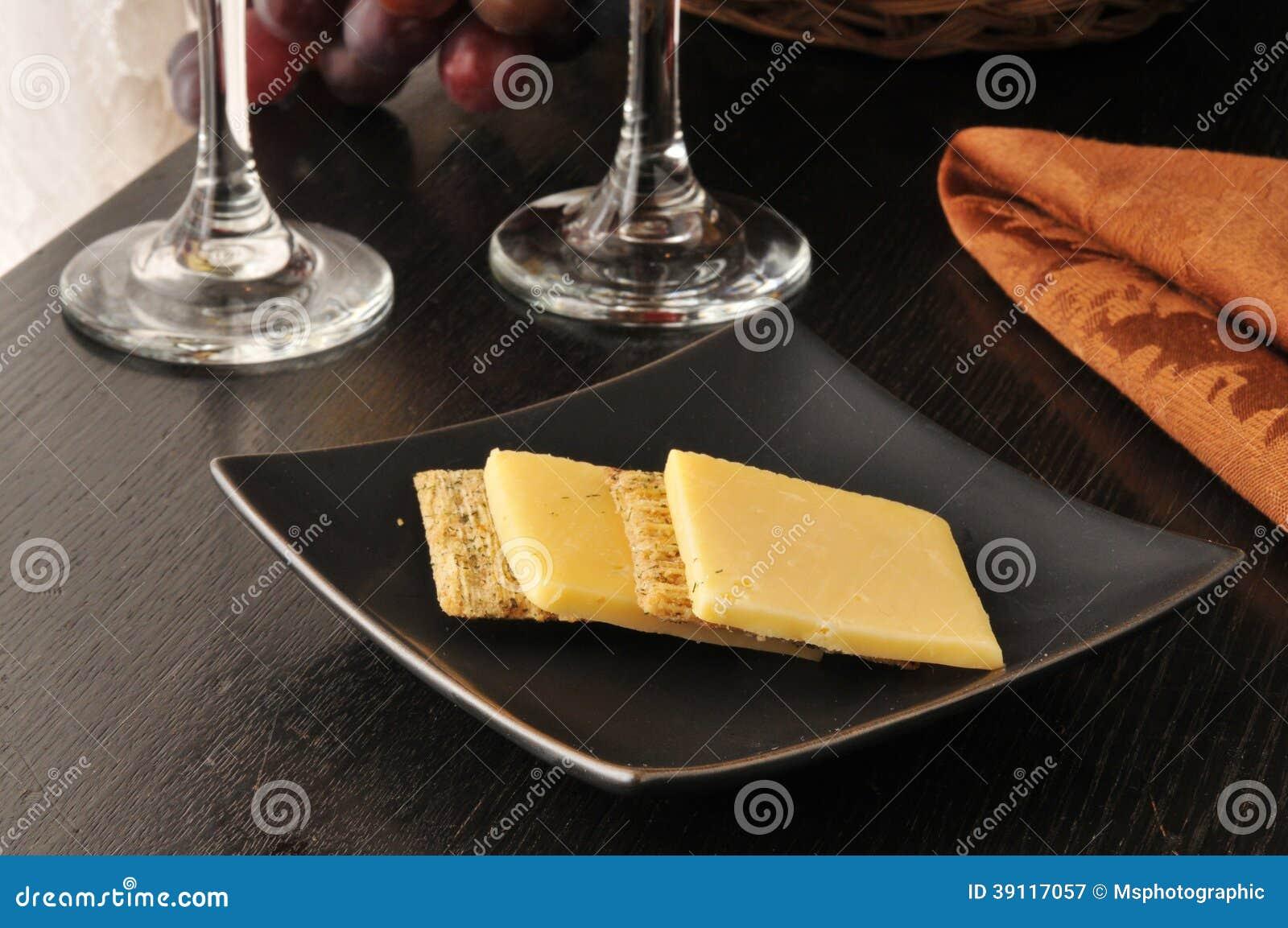 Kaas en crackers