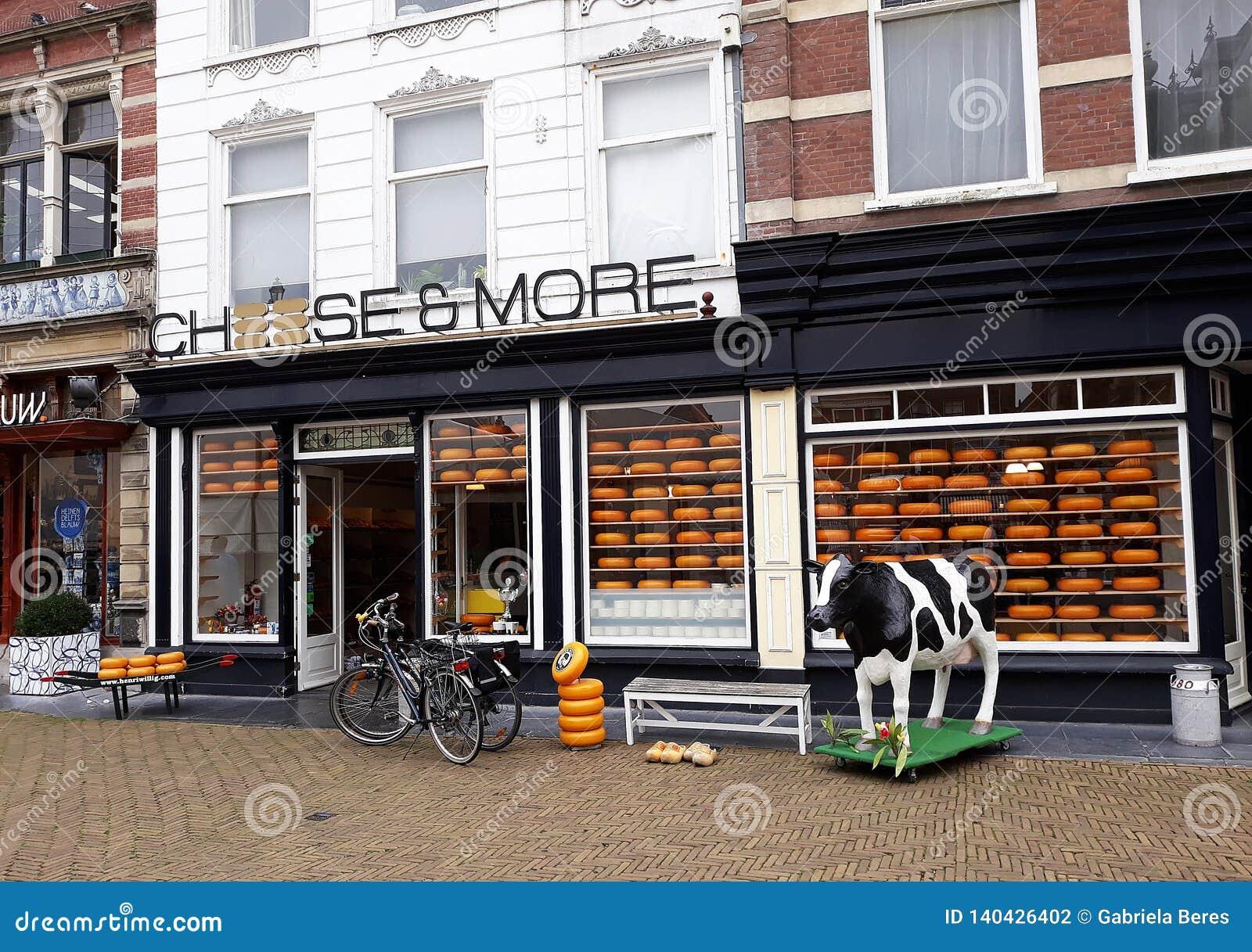 Kaas en Meer Winkel, Edammer kaaswinkel in Delft, Nederland