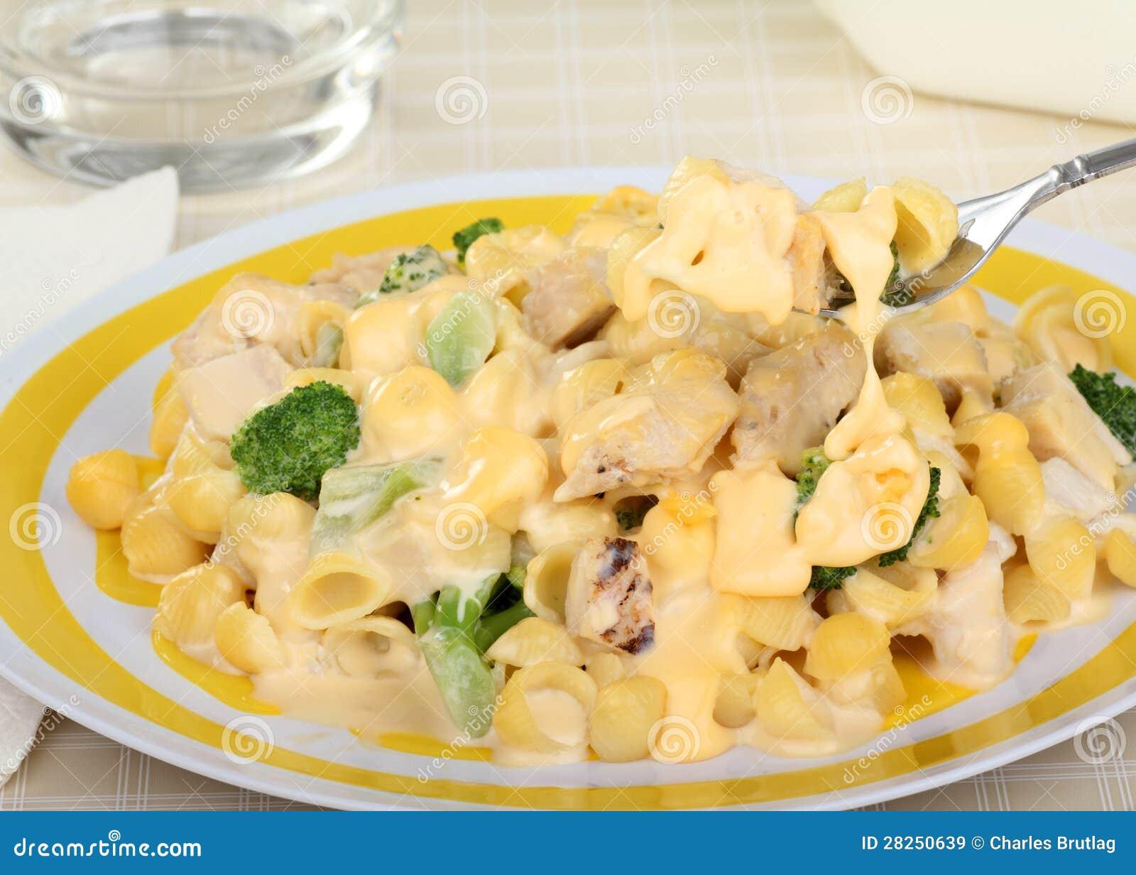 Kaasachtige Macaroni, Kip en Broccoli