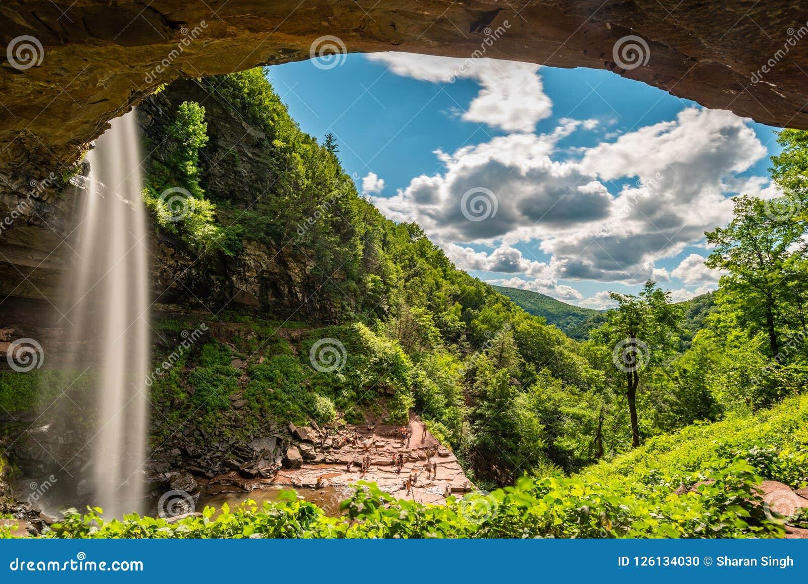 Kaaterskill vattenfall i upstate New York