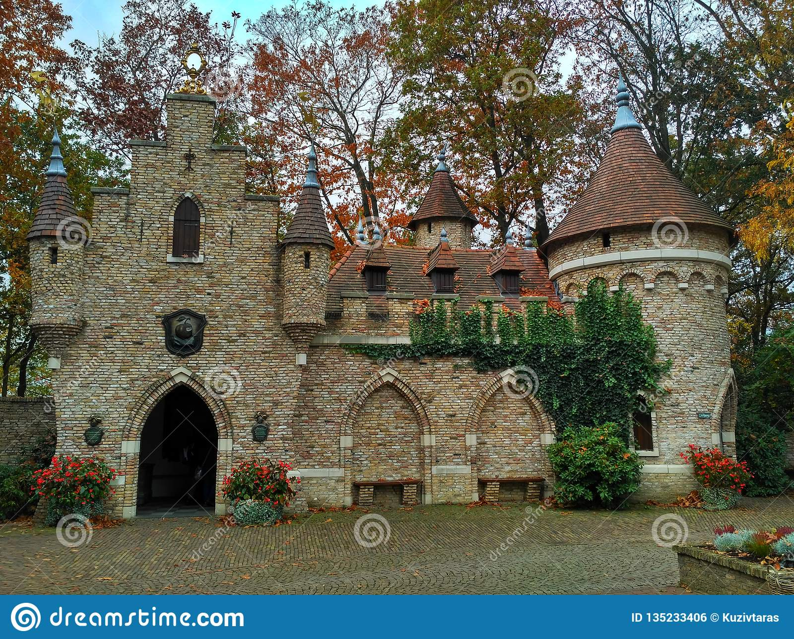 Kaatsheuvel / The Netherlands - November 03 2016: Fairytale castle in Theme Park Efteling