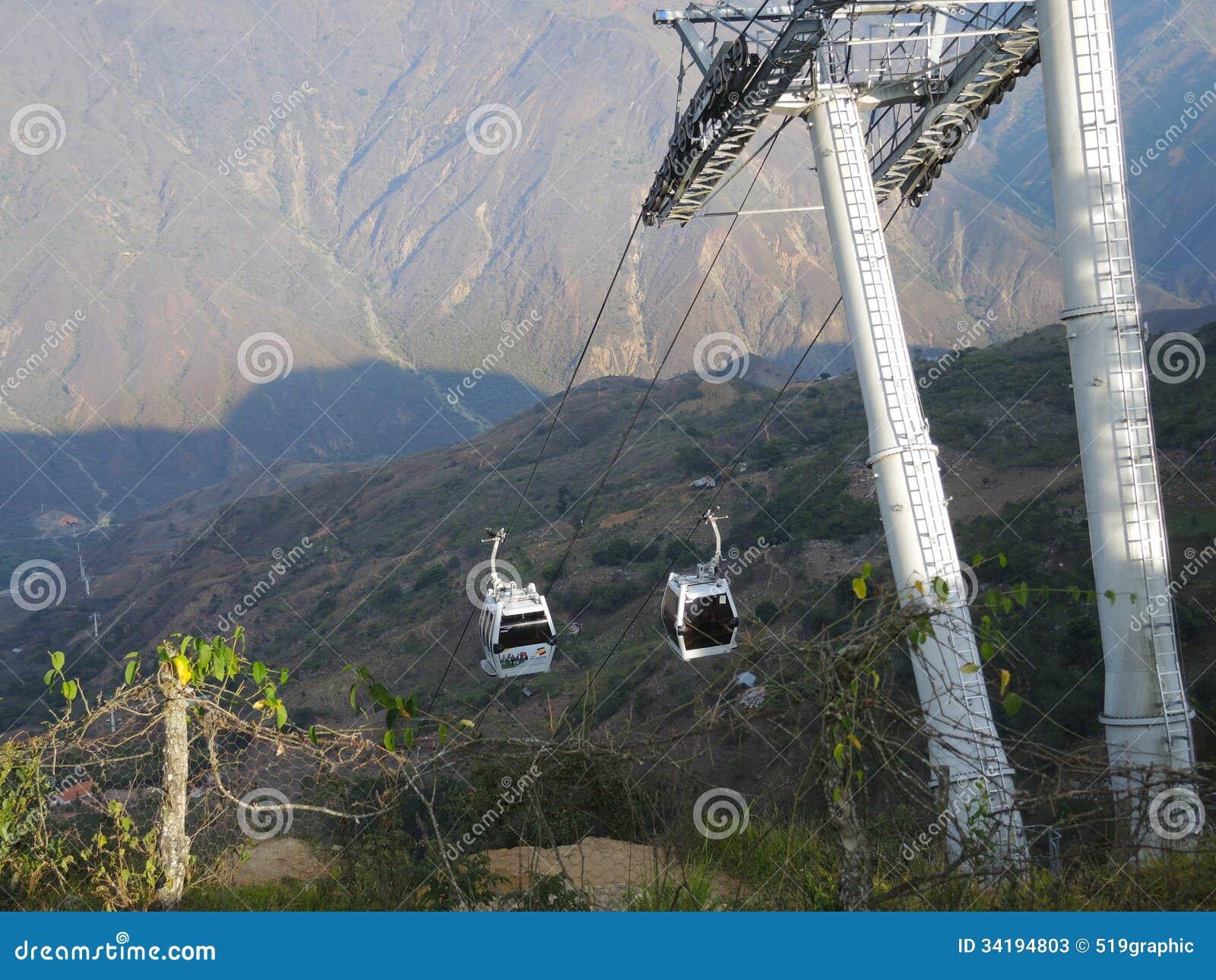 Kabelbahn zur Schlucht von Chicamocha.