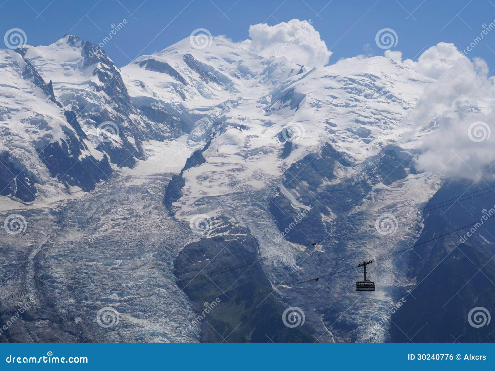 Härligt berglandskap - Mont Blanc