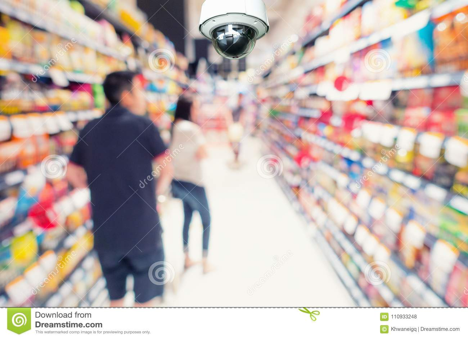 Kabeltelevisie-de observatie van de veiligheidscamera en controle in afdeling st