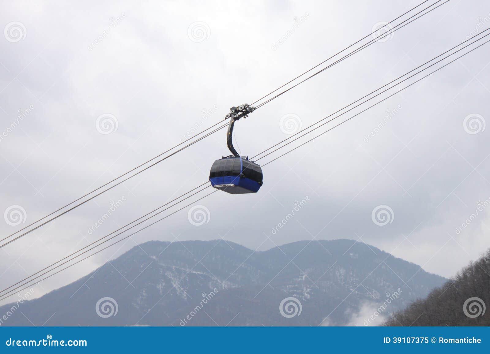 Kabelwagen in bergen