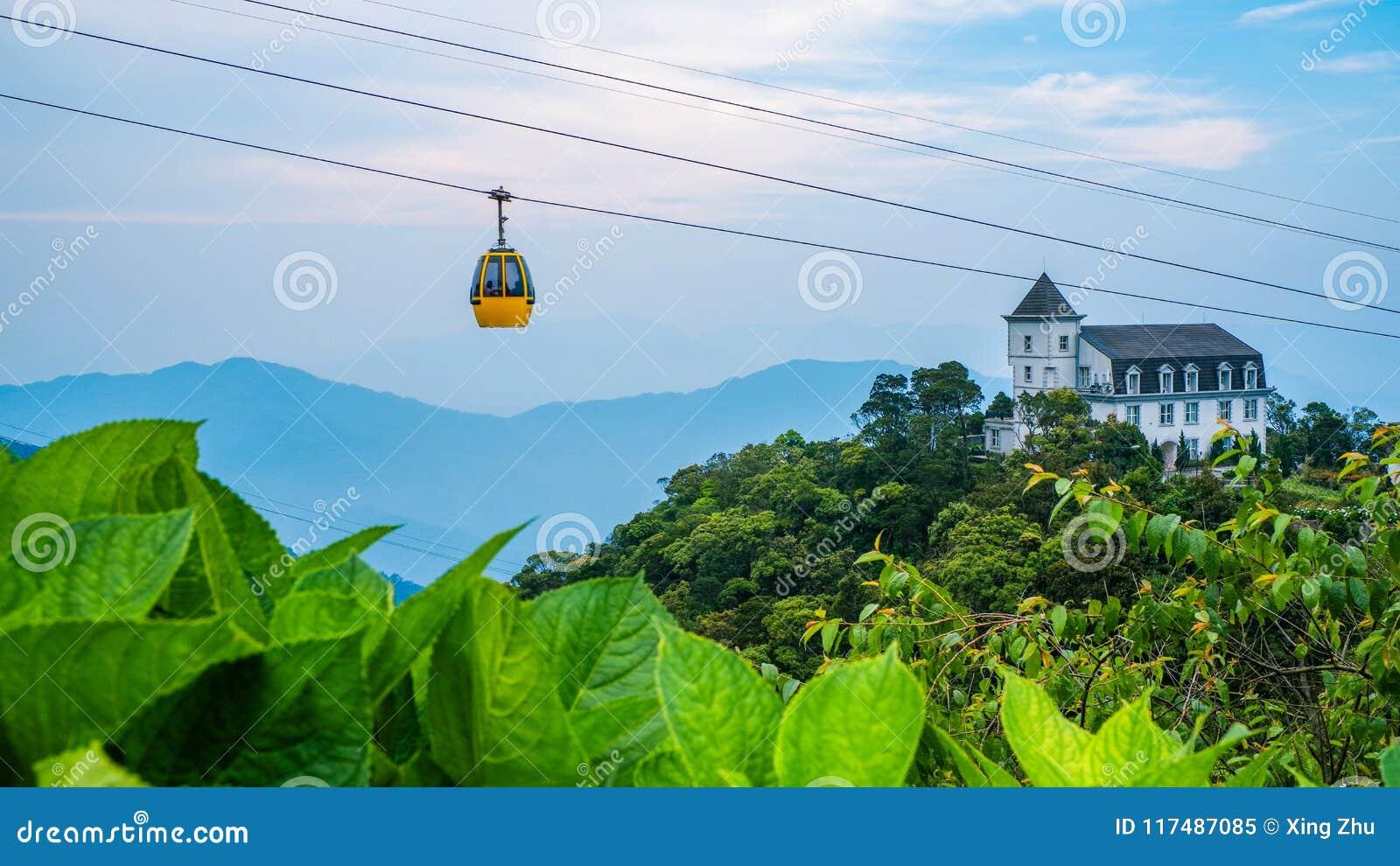 Kabelwagen, de heuvel van Bedelaarsna, Da Nang, Vietnam