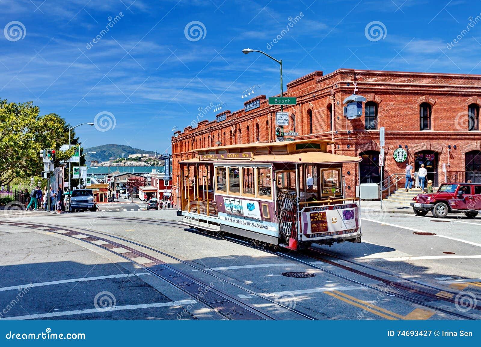Kabelwagentram powell-Hyde, San Francisco, Verenigde Staten