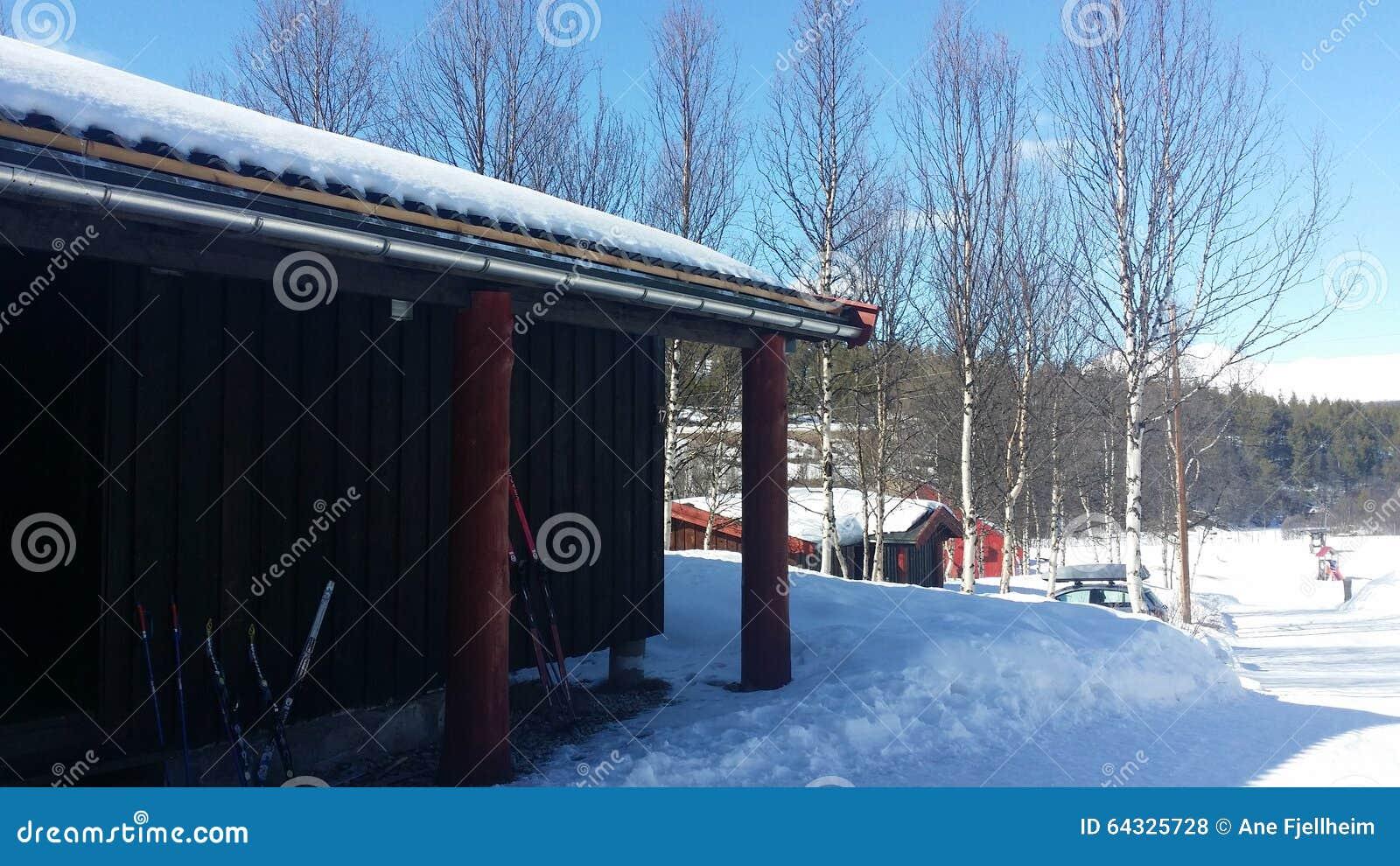 Kabine im Winter