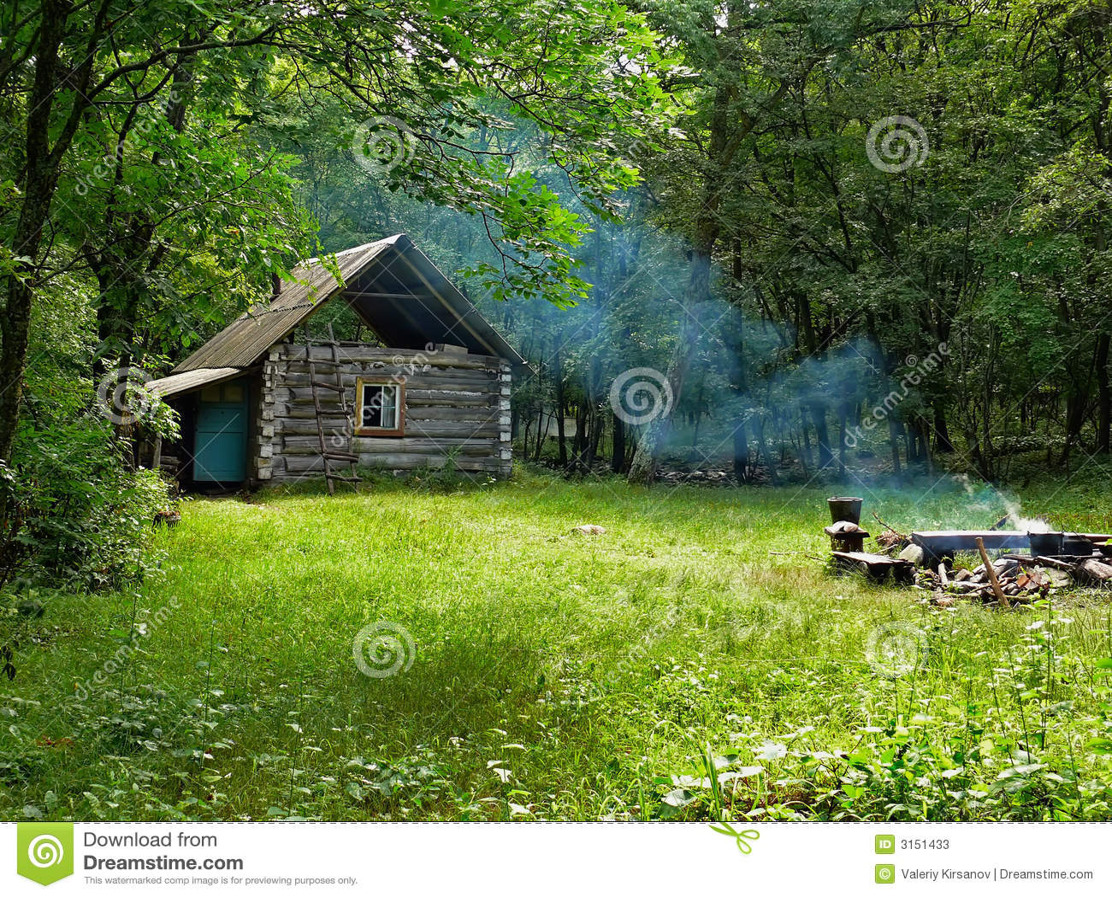 Kabine in Wald 3