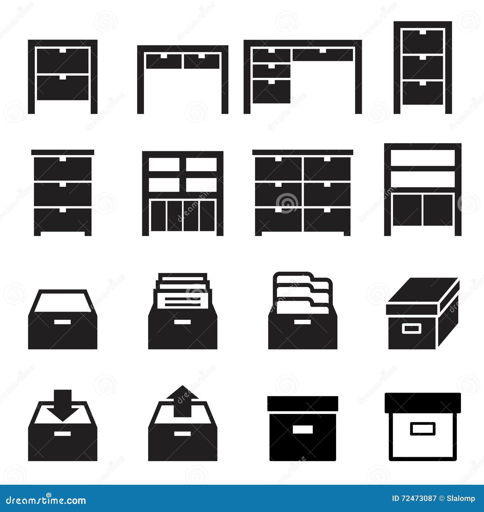 Kabinet & de reeks van het opslagpictogram