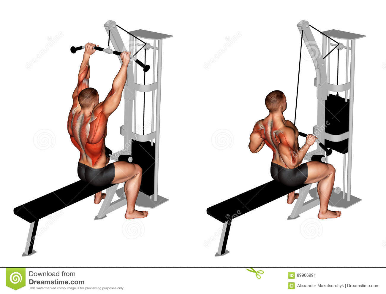 _ Kablowy Prętowy Lateral Pulldown