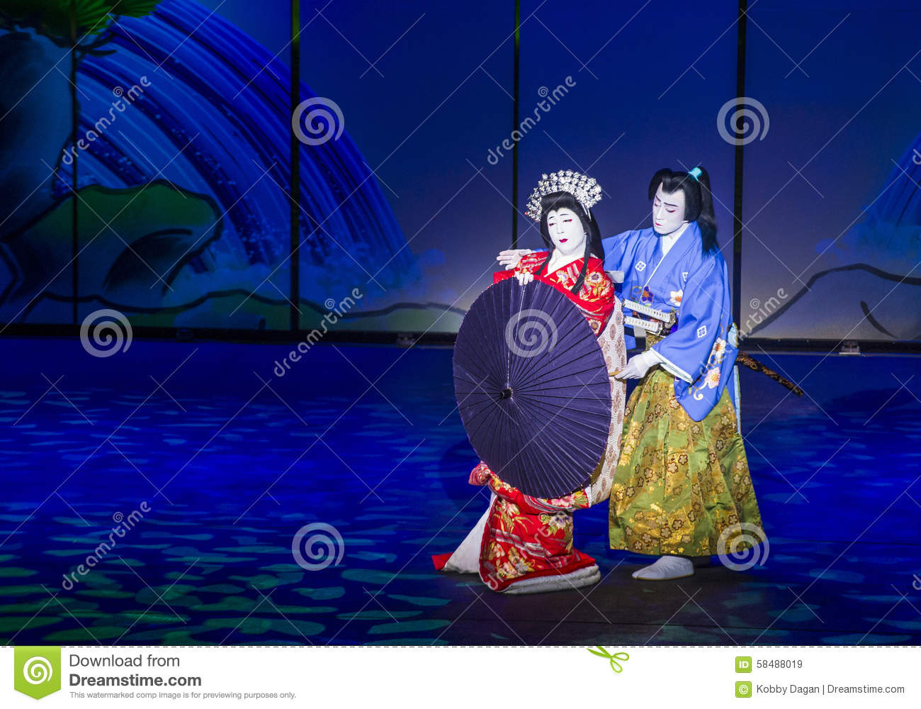 Download Kabuki Spectacle At The Fountains Of Bellagio Editorial Stock Image - Image of asia, nippon: 58488019