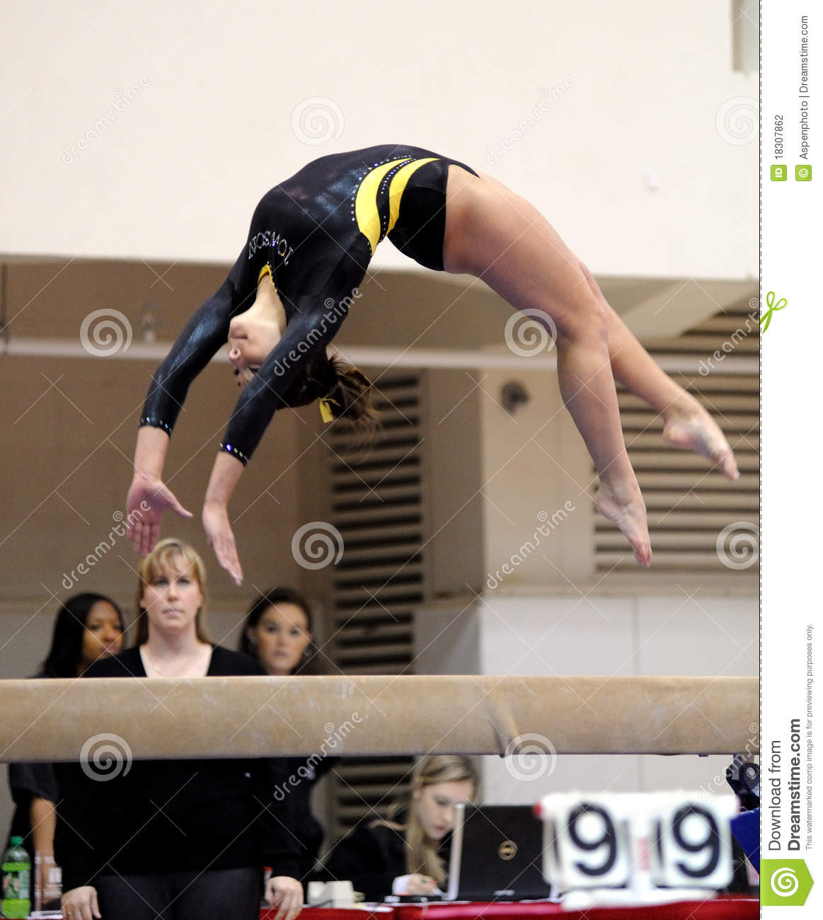 Kacy Catanzaro Balance Beam Back Flip Editorial Photography Image 18307862