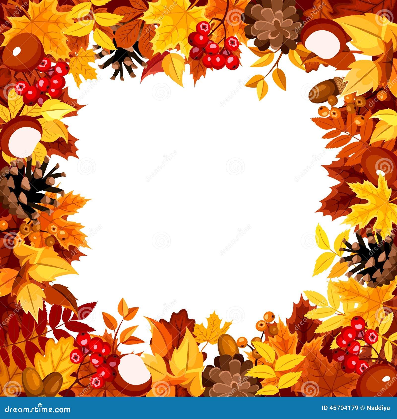 Citaten Herfst Gratis : Kader met de herfst kleurrijke bladeren vector illustratie