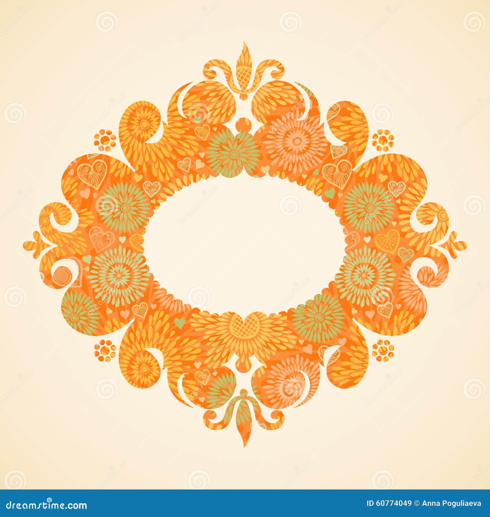 Kader van de concepten het abstracte herfst met plaats voor tekst vector illustratie - Decoratief kader voor het leven ...