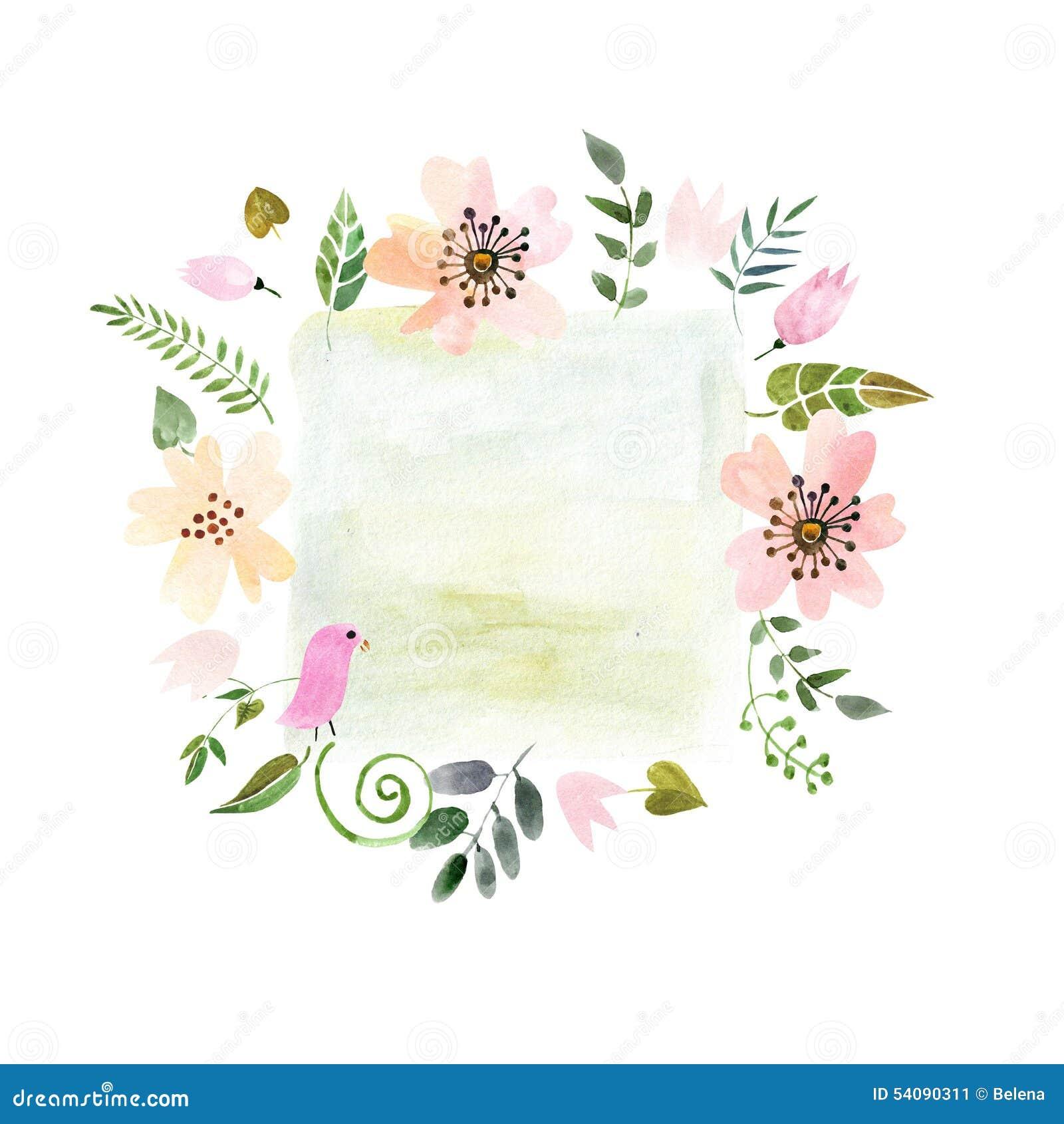 Kader van geschilderde waterverf