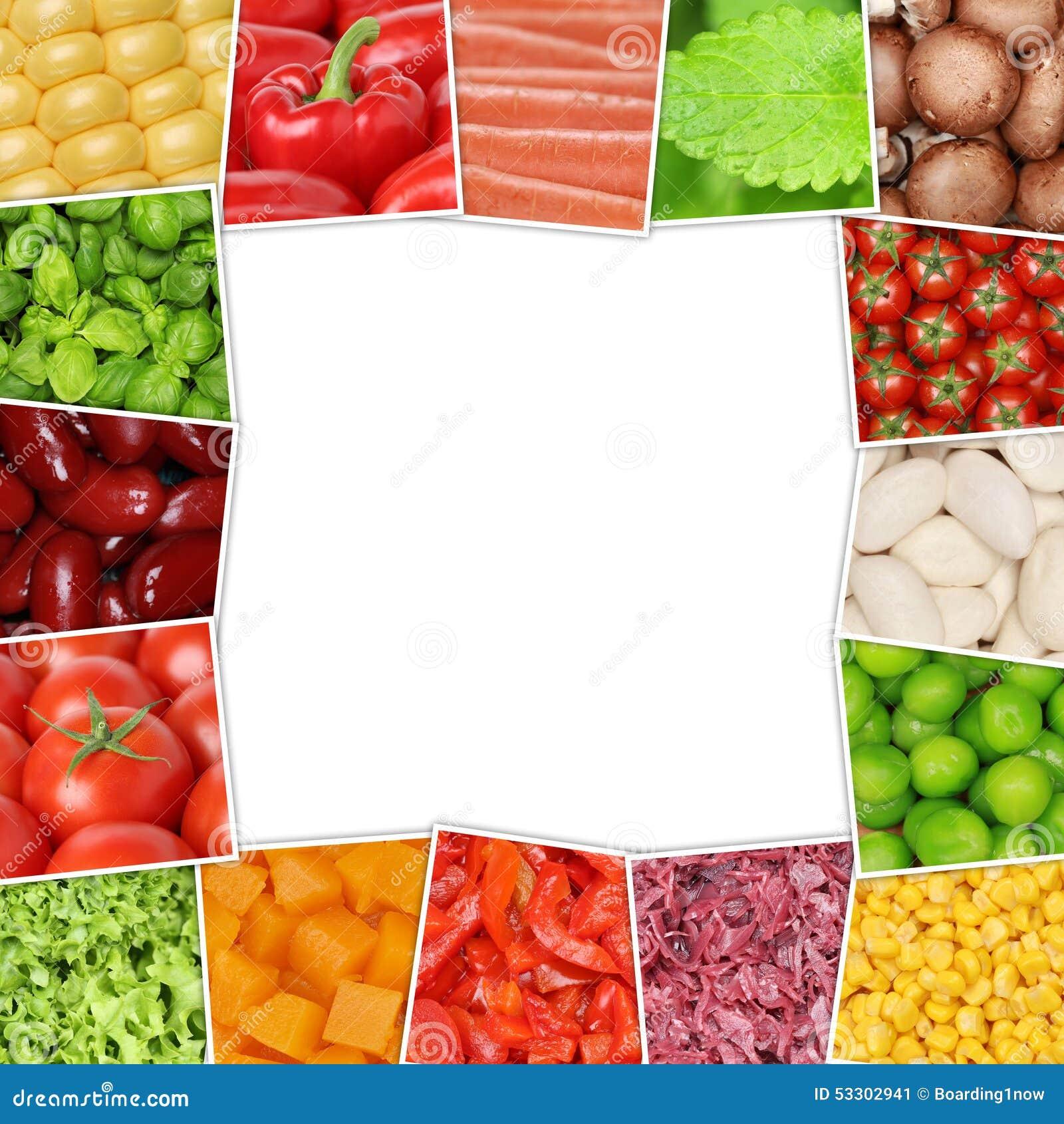 Kader Van Groenten Zoals Tomaten, Paprika, Sla, Paddestoelen Stock Foto   Afbeelding  53302941