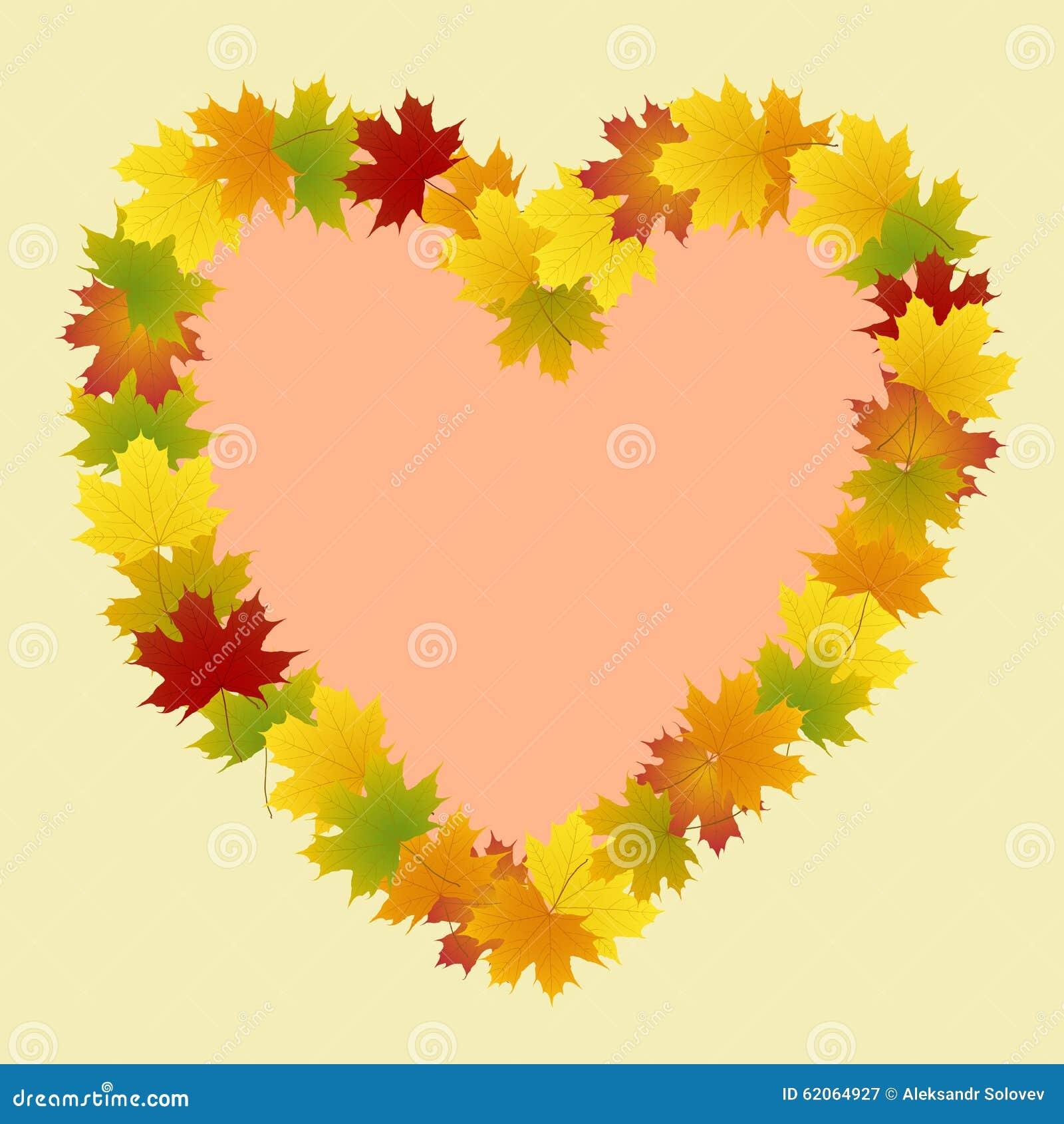 Kader van het hart van esdoornbladeren vector illustratie for Door het hart van china