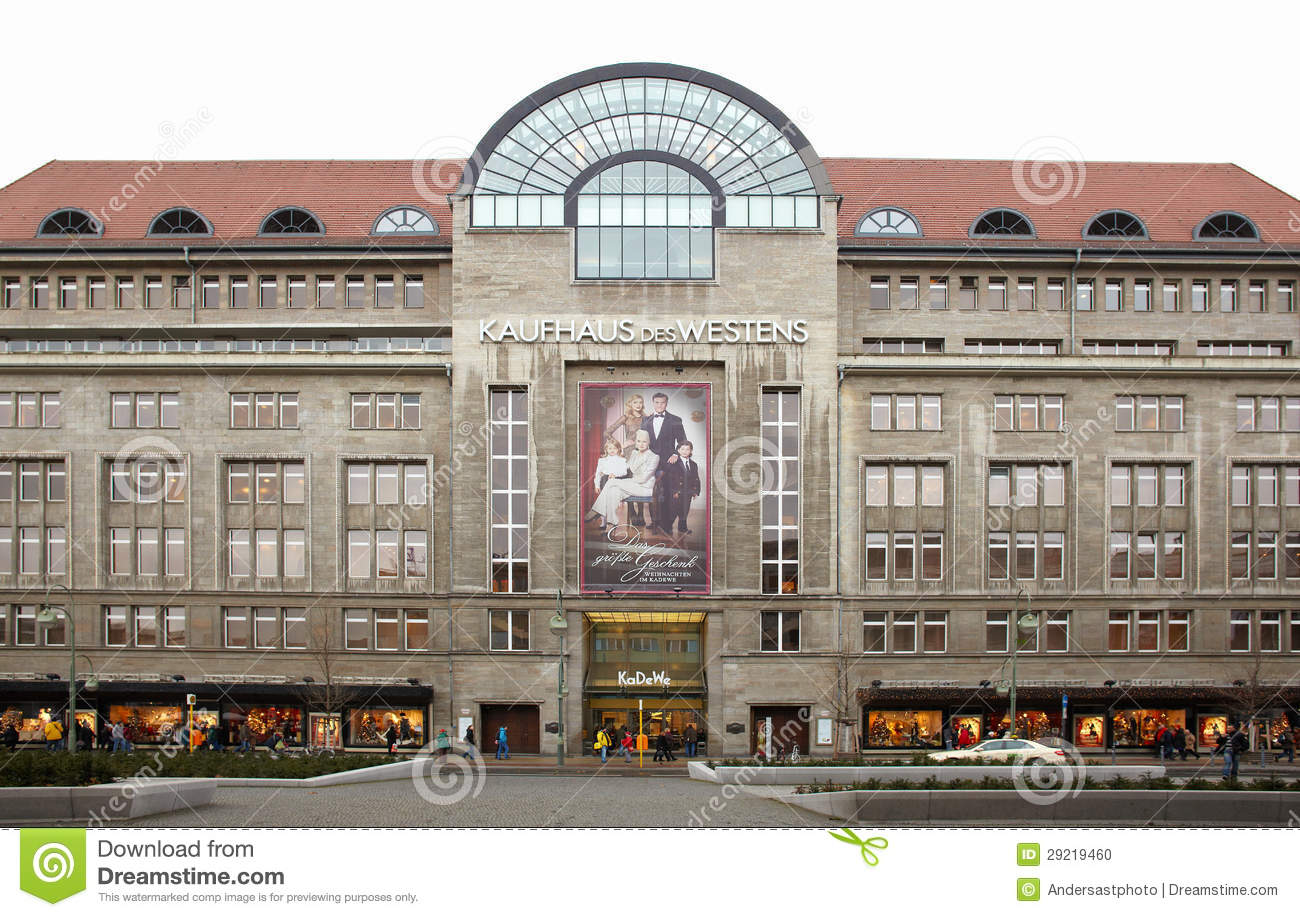 kadewe shopping mall exterior in berlin editorial image image 29219460. Black Bedroom Furniture Sets. Home Design Ideas