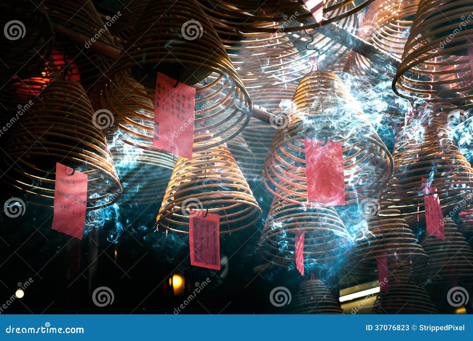 Download Kadzidłowe Zwitki Wieszają Od Sufitu Mężczyzna Mo świątynia, Hong Kong Wyspa Obraz Stock - Obraz złożonej z nikt, kadzidła: 37076823