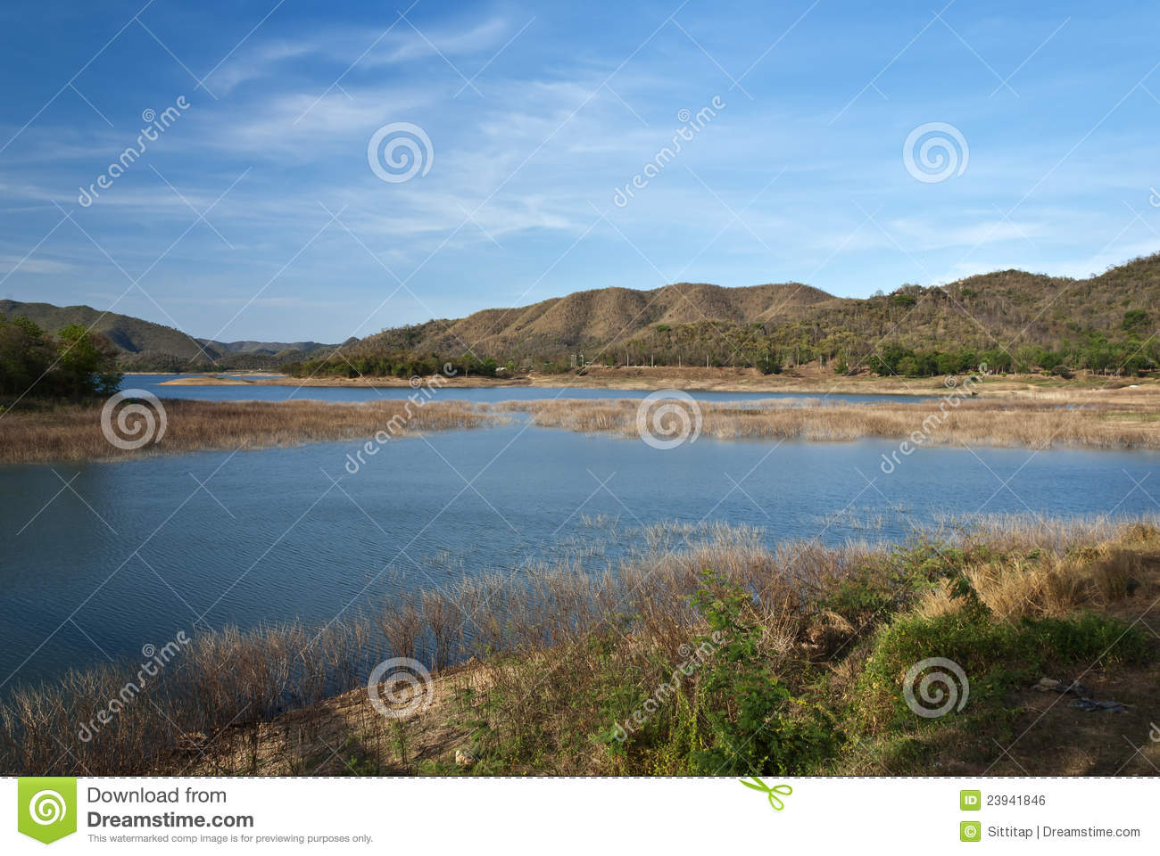park kaeng krachan dam lake in the area of kaeng krachan national park ...
