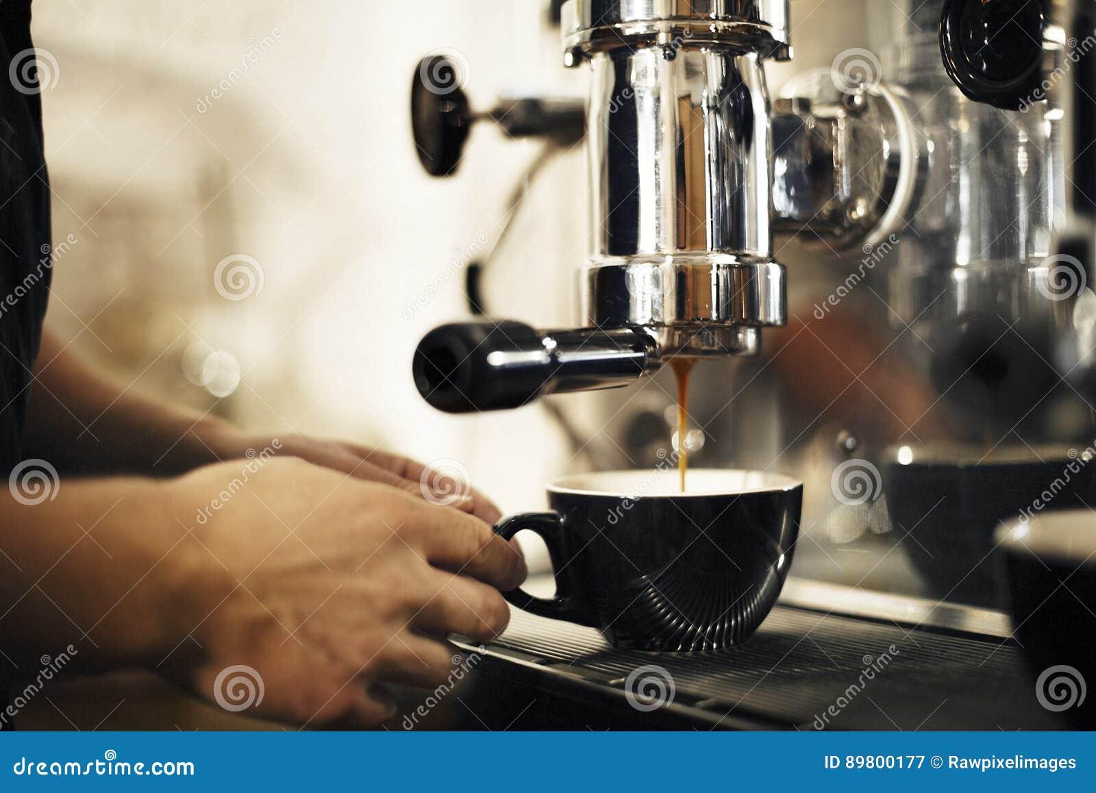 Kafé Barista Concept för kaffedanandeaffär