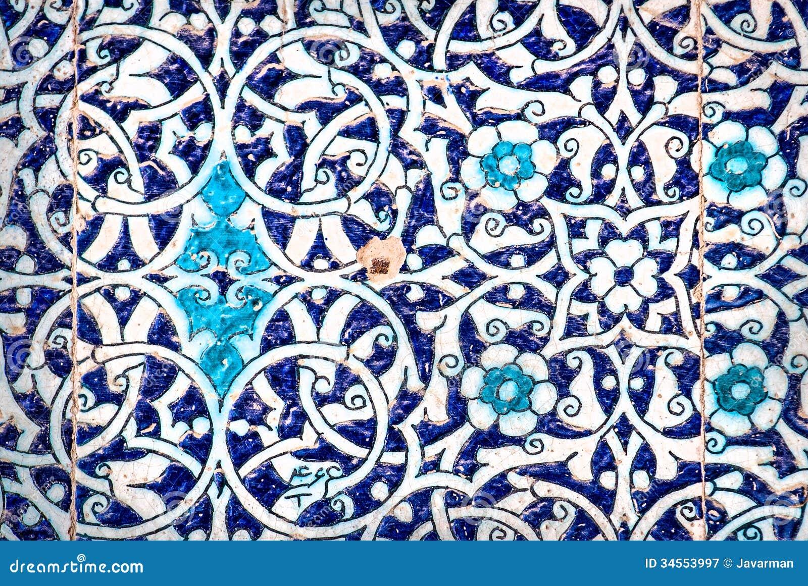 Kafelkowy tło z orientalnymi ornamentami