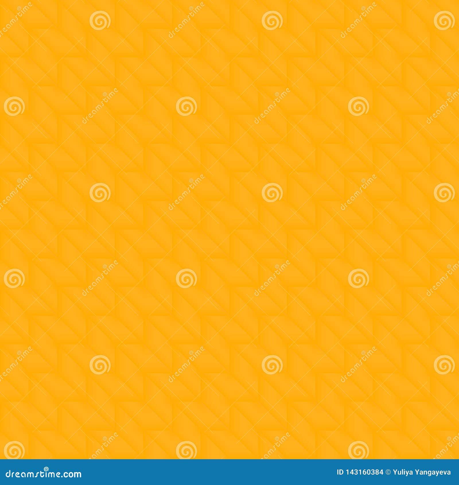 Kafelkowy wzór ciemni żółci rhombuses i trójboki w zygzag