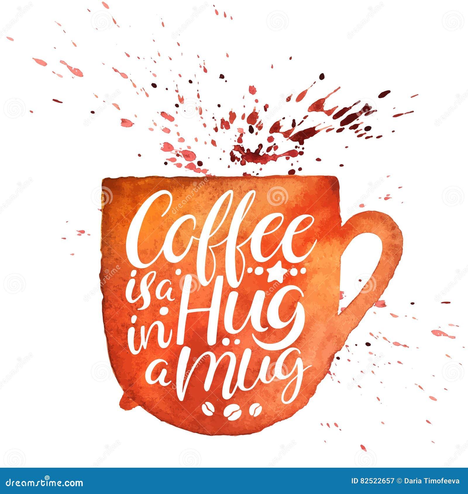 Kaffe är en kram i en råna
