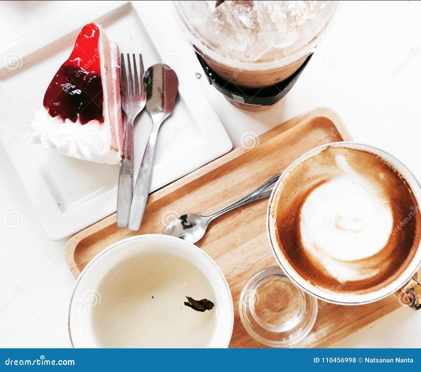 Kaffe isolerad set white