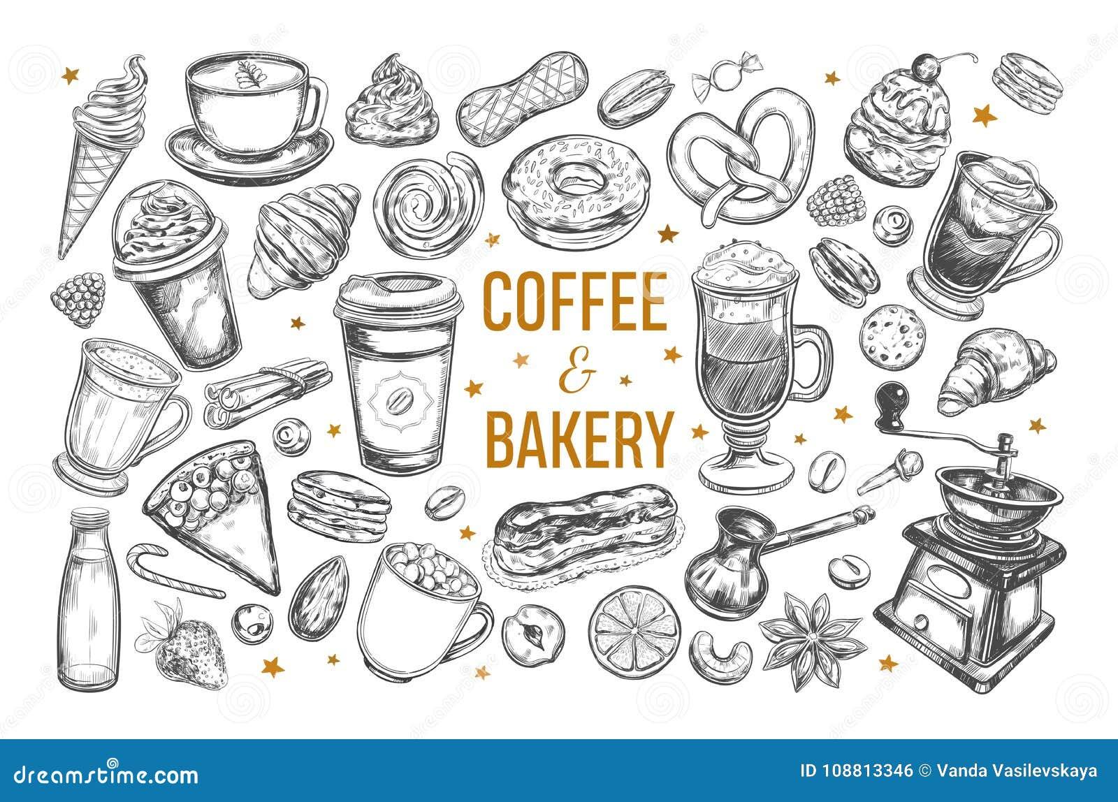 Kaffe- och bageriuppsättning