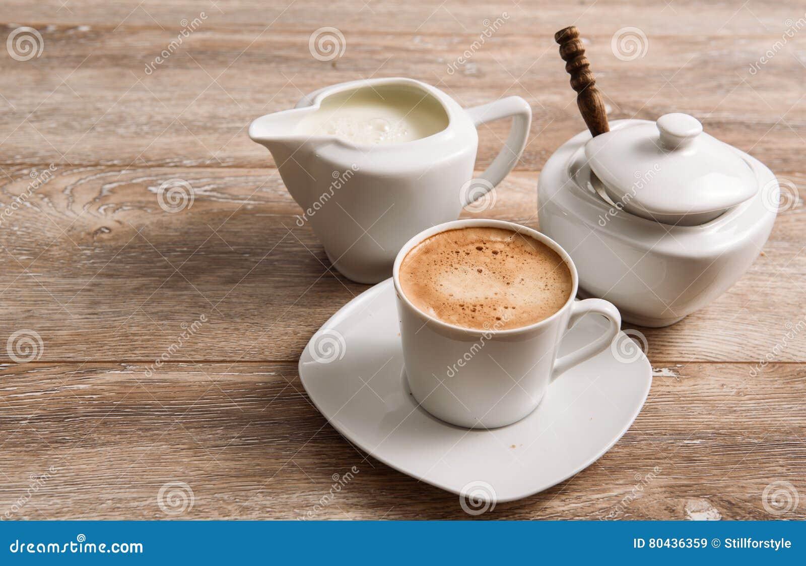 Kaffee Milch Und Zucker