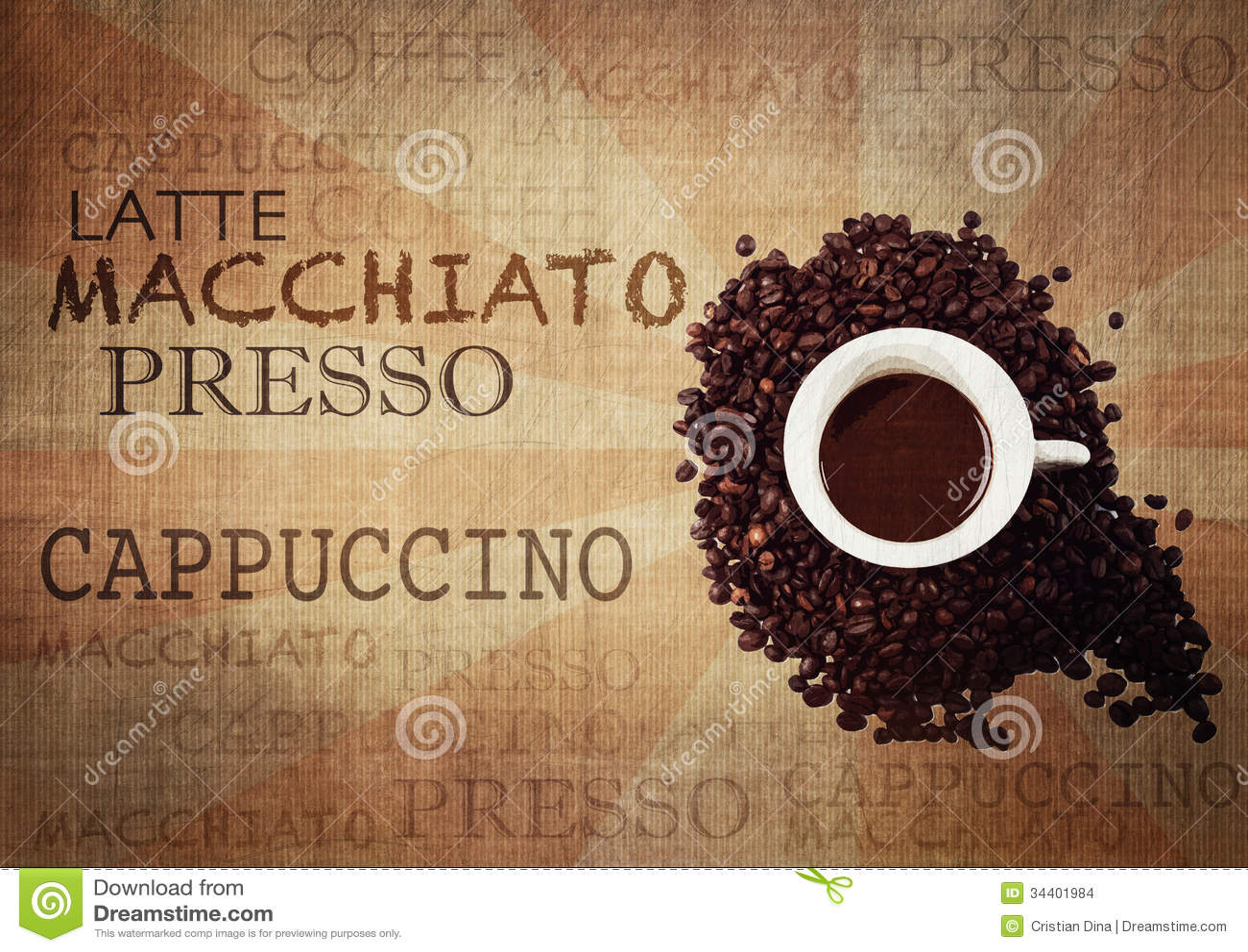 Kaffee-Schmutz-Weinlese-Hintergrund