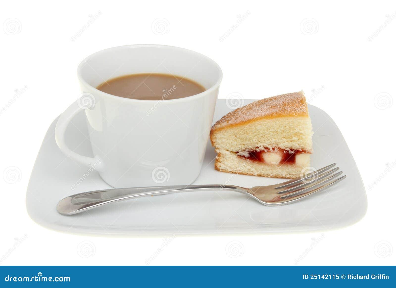 kaffee und kuchen stockbild bild von himbeere gabel 25142115. Black Bedroom Furniture Sets. Home Design Ideas