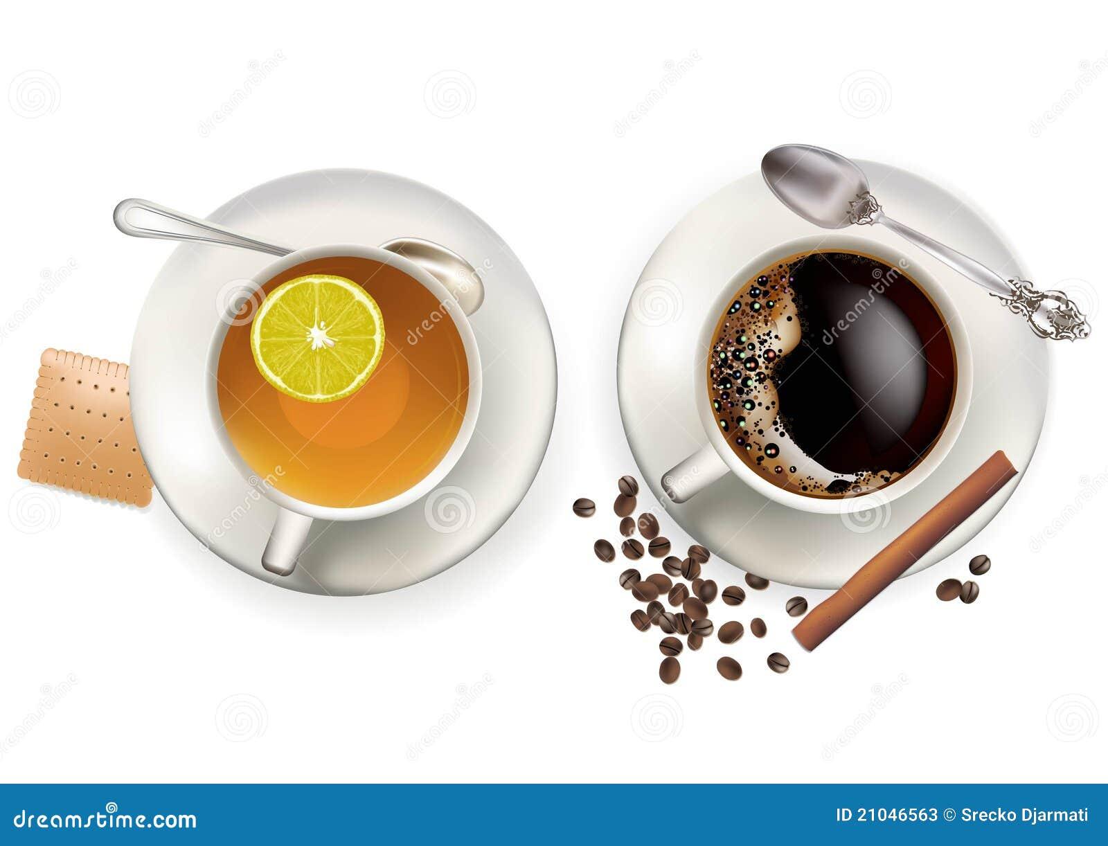 kaffee und tee stockfotos bild 21046563. Black Bedroom Furniture Sets. Home Design Ideas