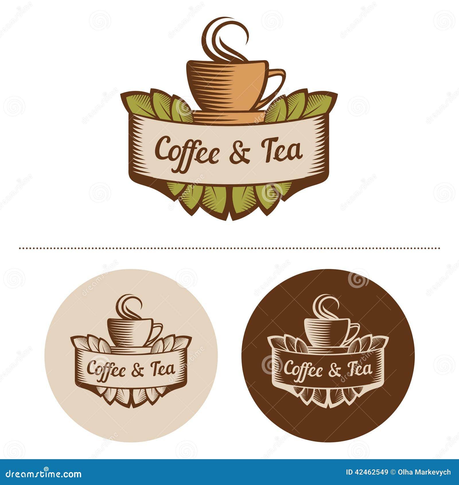Kaffee und Tee Logo Template