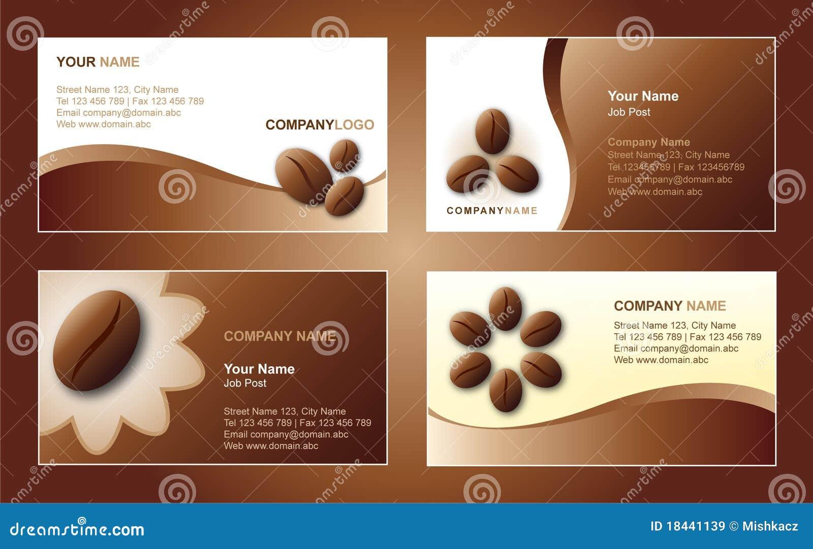 Kaffee-Visitenkarteschablone