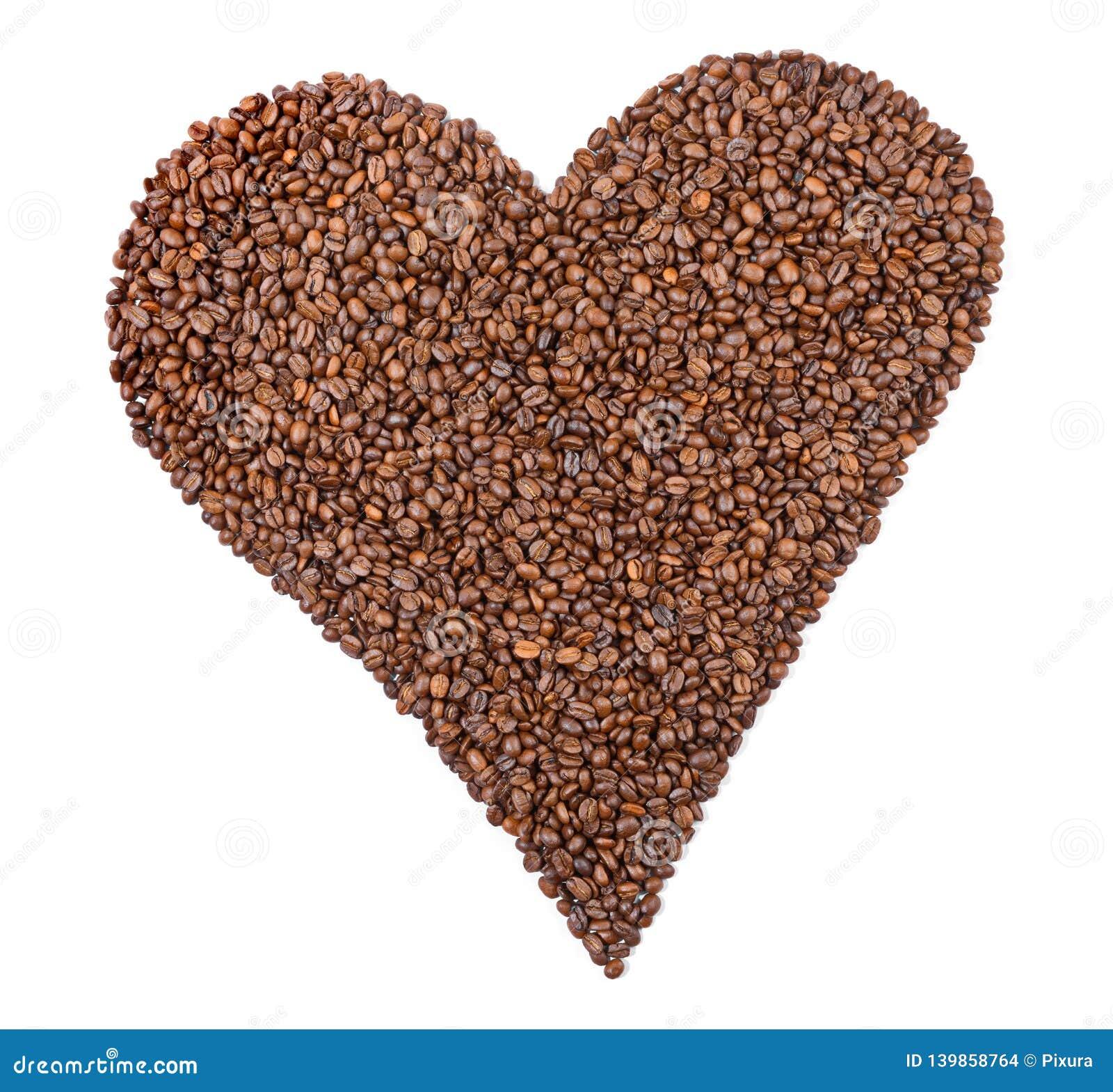 Kaffeebohnen - Herz-Form