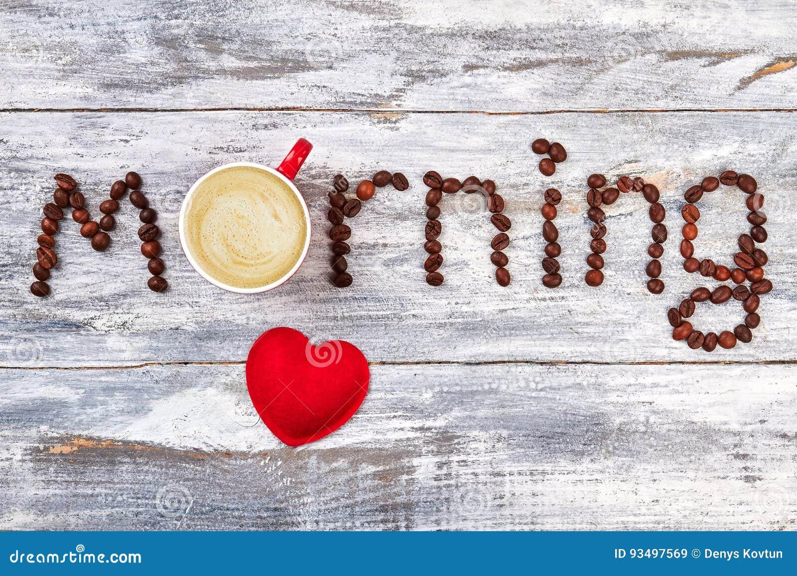 Kaffeegetränke- Und -ROTherz Stockbild - Bild von cappuccino, korn ...