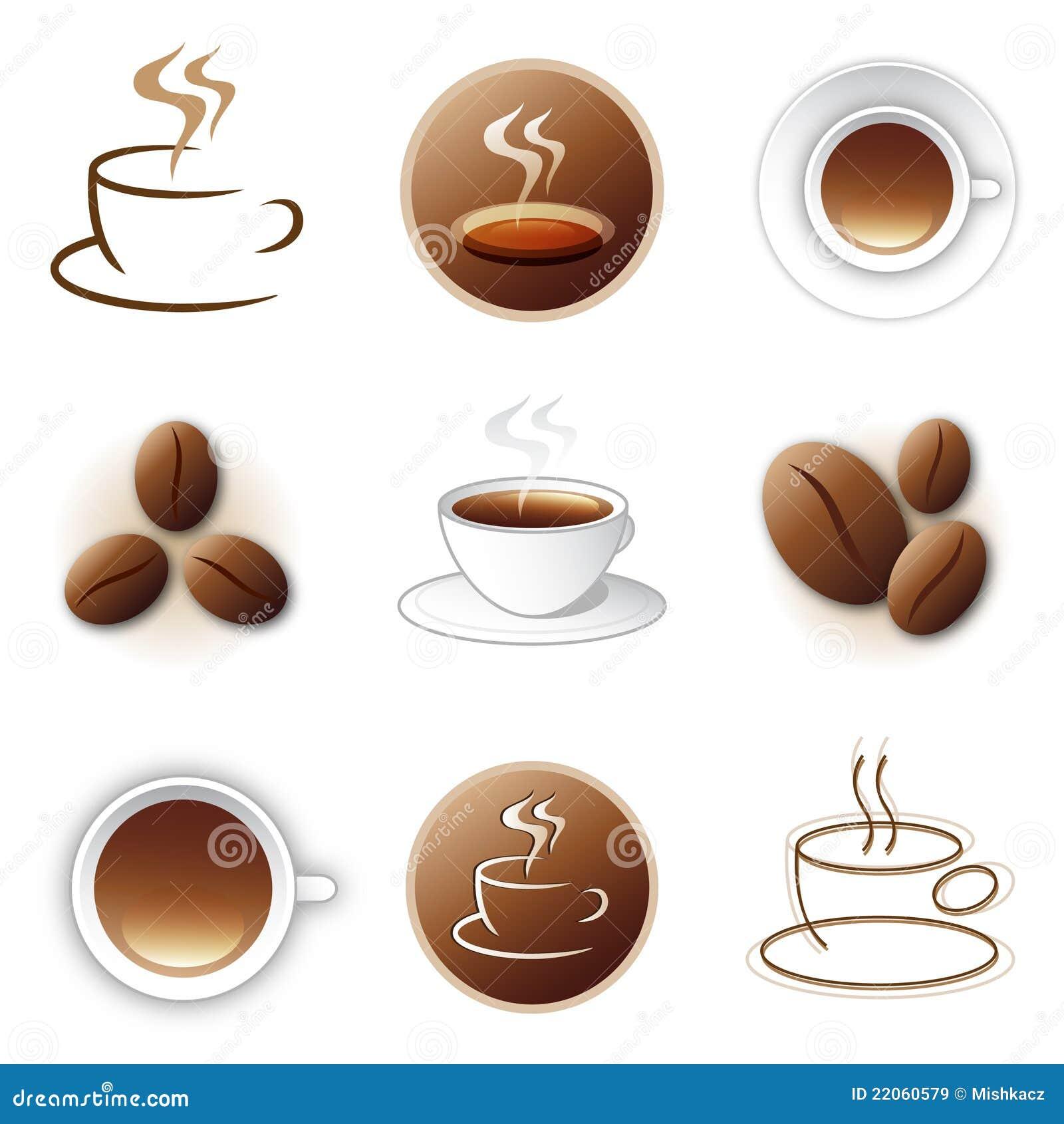 Kaffeeikonen- und Zeichenauslegungansammlung